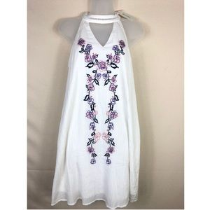 Francescas white flowered dress